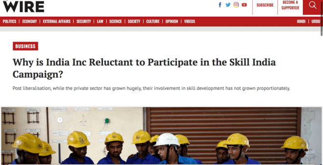 https://thewire.in/business/why-is-india-inc-reluctant-to-participate-in-the-skill-india-campaign
